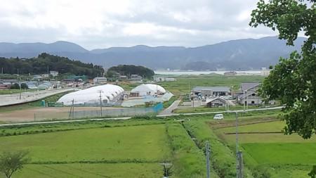 米崎小からの景色